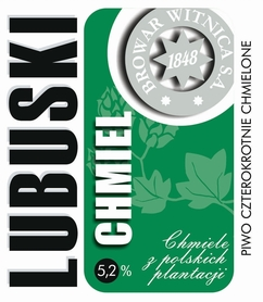 Etykieta piwna Lubuski Chmiel 500ml