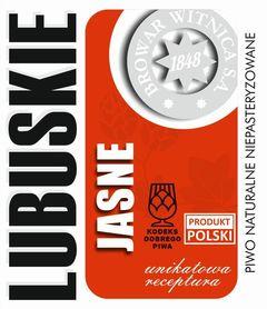 Etykieta piwna Lubuskie Jasne 500ml (KDP+Produkt Polski)