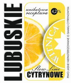 Etykieta piwna Lubuskie Cytrynowe (wersja z zawartością alkoholu)