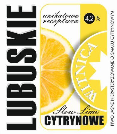 Etykieta piwna Lubuskie Cytrynowe (wersja z zawartością alkoholu) (1)