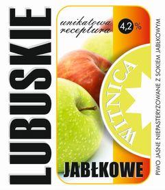 Etykieta piwna Lubuskie Jabłkowe