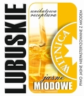 Etykieta piwna Lubuskie Miodowe Jasne (wersja bez zawartości alkoholu) (1)
