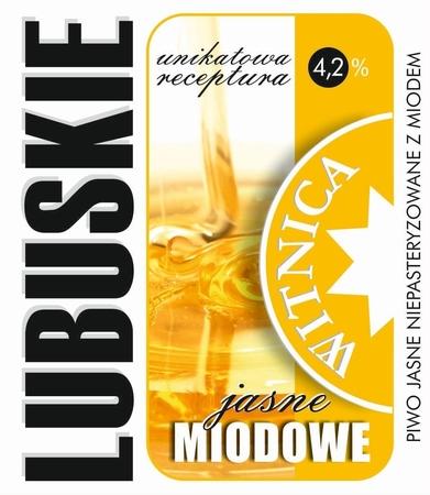 Etykieta piwna Lubuskie Miodowe Jasne (wersja z zawartością alkoholu) (1)