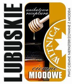 Etykieta piwna Lubuskie Miodowe Ciemne (wersja bez zawartości alkoholu)