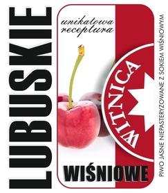 Etykieta piwna Lubuskie Wiśniowe (wersja bez zawartości alkoholu)