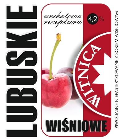 Etykieta piwna Lubuskie Wiśniowe (wersja z zawartością alkoholu) (1)