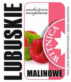 Etykieta piwna Lubuskie Malinowe (wersja bez zawartości alkoholu)