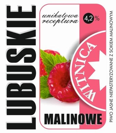 Etykieta piwna Lubuskie Malinowe (wersja z zawartością alkoholu) (1)