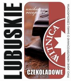 Etykieta piwna Lubuskie Czekoladowe (wersja bez zawartości alkoholu)