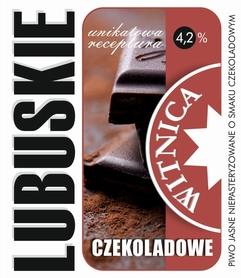 Etykieta piwna Lubuskie Czekoladowe (wersja z zawartością alkoholu)