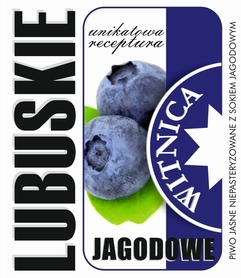 Etykieta piwna Lubuskie Jagodowe (wersja bez zawartości alkoholu)