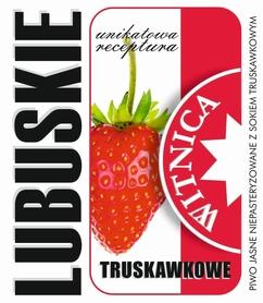 Etykieta piwna Lubuskie Truskawkowe (wersja bez zawartości alkoholu)