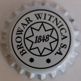 Kapsel piwny biały z logo browaru