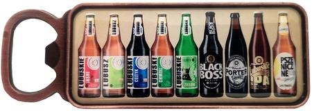 Otwieracz firmowy magnes z wizerunkiem piw marki Lubuskie (1)