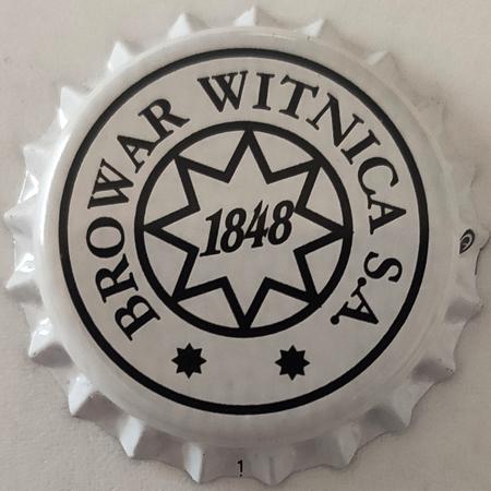 Kapsel piwny biały z logo browaru (sygnatura na 3) (1)